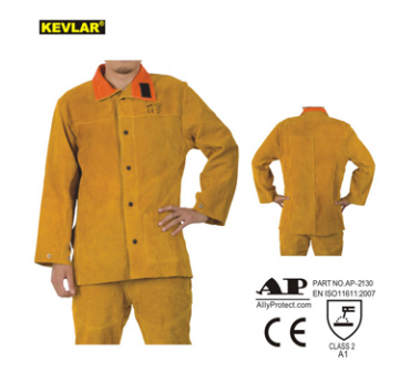 manufacture best leather welding jacket with CE certificated