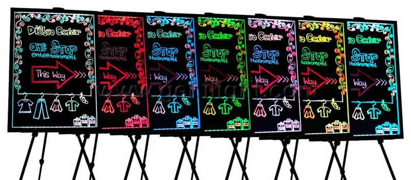 Alibaba.com VIP 8-year Supplier RGB LED Writing board with Acrylic Board