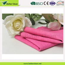 hot sales square pink pu towel microfiber car cleaning cloth