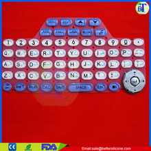 made in china pos machine cheap custom silicone rubber keypad with conductive carbon pill