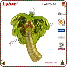cheap glass ornament hanging for Christmas tree decoration