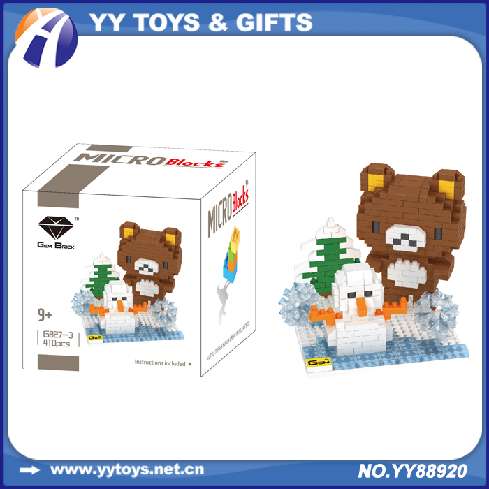 Children's interesting gift bear toy play and learn building blocks