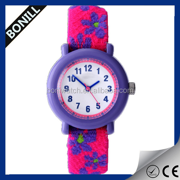 New product cheap nylon watch for kids hot selling slap kids watches