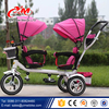 Striding type kid tricycle bike / double seat children tricycle with trailer / wholesale baby tricycle in bulk
