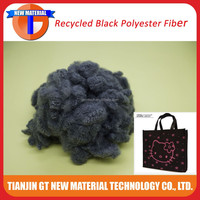 recycled black polyester staple fiber