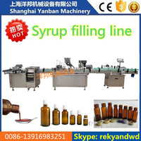 60ml 100ml 120ml cough syrup filling and capping machine line