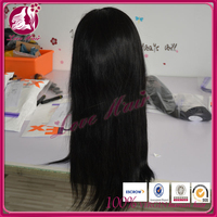 Hot wholesale hairpieces for hair full lace wig hold on free parting hair type dear 180%so thick straight hair