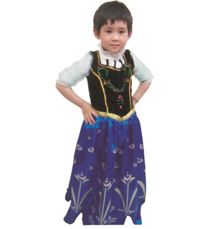 Princess Anna Costume Frozen Fancy Dress Elsa Cosplay Dress Girl Dresses