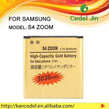 original mobile phone battery for Samsung C101 C1010 galaxy S4 ZOOM B740AC , 3.7v gold batterier