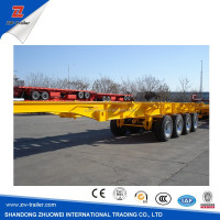 best selling cheap 40ft container chassis skeleton semi trailer
