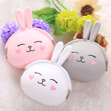 soft gift custom Hot Sale Cute Animal Printing silicone coin purse
