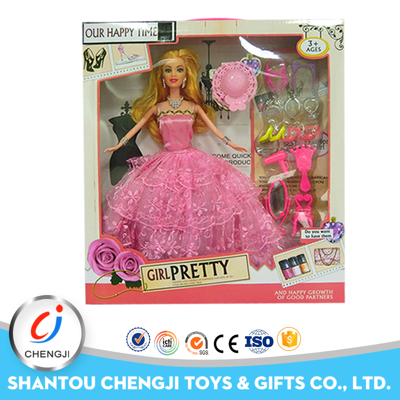 High quality dress up games pink 11 inch american girls toys princess