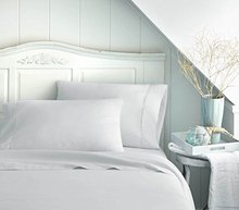 White Deep Pocket Sheets 1800 Series 4 Piece Bedding Set