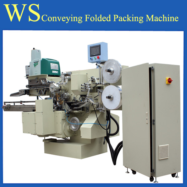 Conveying high speed chocolate folded packing machine