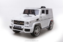 White 12V Twin Motors Mercedes G63 AMG SUV Rechargable Electric Car Parental remote control Openable door MP3 ride on car