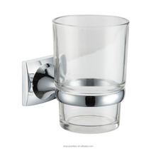 zinc square base bathroom single cup tumbler holder with metal holder of bathroom accessories