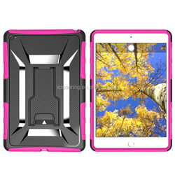 Kickstand shockproof case skin cover for ipad mini 4, for iPad mini 4 hybrid case with stand
