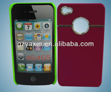 Back Protective metal aluminum bumper case cover for iphone 4/4s