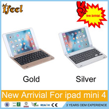 Brand Portable Slim Flip Stand Wireless Bluetooth Keyboard Smart Covers For Apple ipad mini 1 2 3 4