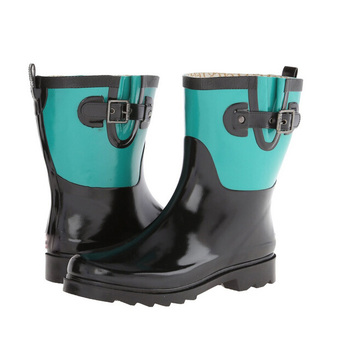 Women's Fashion Low Cut Rubber  Rain Boots