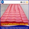 Construction material Red Galvanized Corrugated metal roof tile