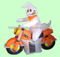 150cmH/5ft inflatable Halloween decoration ghost driving motorcycle