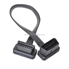 16 Pin Ultra Flat Low Profile Male to Female OBD II 2 Extension Cable 30cm