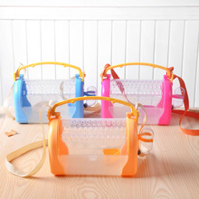Cute Transparent Acrylic Small Pet Portable Pink Hamster Bag Cage Carrier