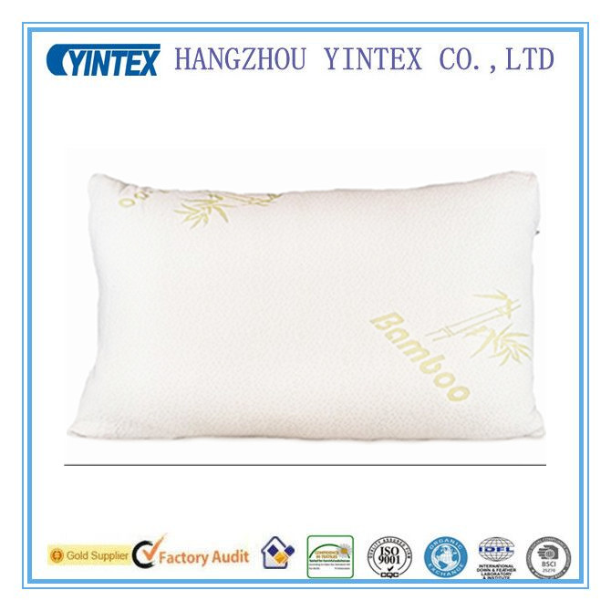 Bamboo Pillow Shredded Memory Foam Stay Cool Removable Cover With Zipper Hotel Quality Hypoallergenic Pillow