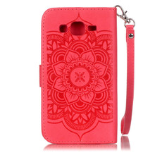 New year promotion Portable Card Slot Stand Function Leather Phone Case Cover with Strap for Samsung Galaxy J5