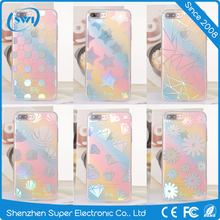 2017 Latest fashion design Hot selling custom collored electroplating IMD TPU cell phone back cover case for iphone 6 6s