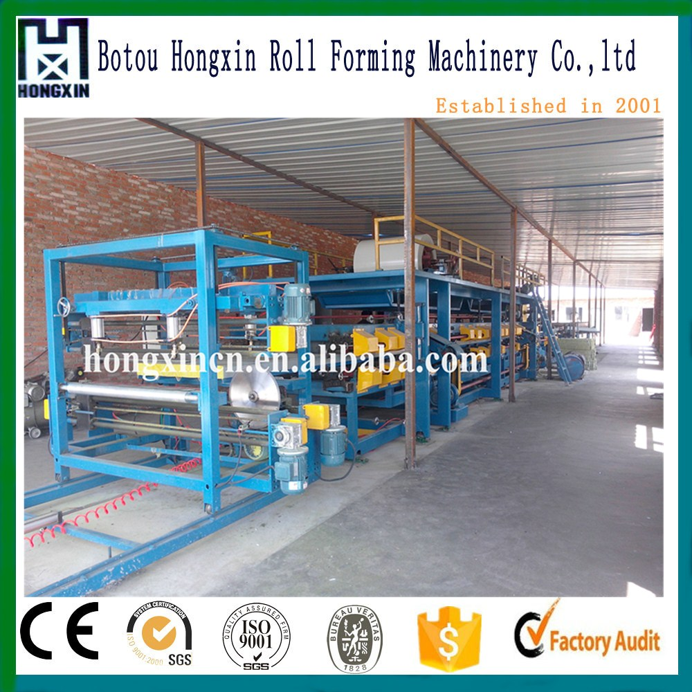 Equipment for Small Business at Home: Prefab House Cold Room EPS&Rock Wool/Mineral Wool Sandwich Panel Production Line/Machine
