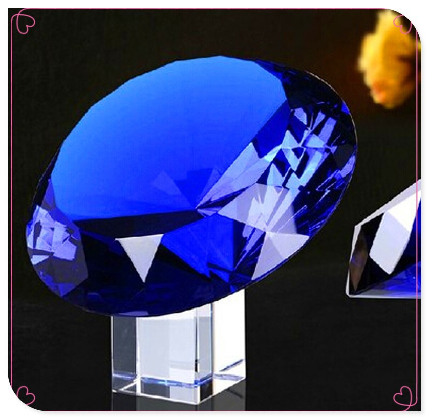 Diamond Cut Glass Diamond Shaped Cheap Colorful Glass Paperweight For Holiday Decoration&Gift