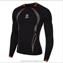 Quick dry high elastic factory made merino wool base layer sportswear
