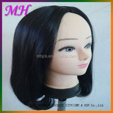 Side Back Bobo Style With The Ends Of The Hair Curly High Temperature Silk Wig