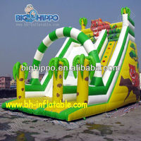 cheap inflatable bouncy dry slides for sale