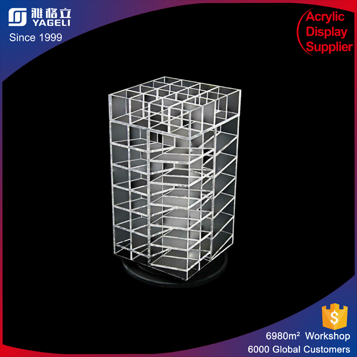 Tabletop Advertising Equipment Acrylic Lipstick Tower Cosmetics Store Lip Gloss Display Holders