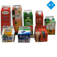 Aseptic fresh juice gable top paper cartons