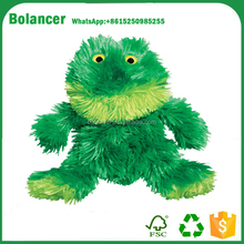 customized new style lovely stuffed plush green frog toy