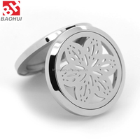 2016 Costume Jewelry Hollow Flower Stainless Steel Essential Oil Aromatherapy Diffuser Perfume Locket Pendant
