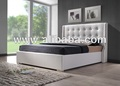 Furniture Bedroom Furniture/Beds/Leather Bed/ Faux Leather Bed ( Jasper Bed)