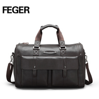 FEGER High Class Genuine Leather Hand Carry Travel Bag