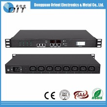 "Support OEM 19"" horizontal c13 smart metal pdu power distribution unit"