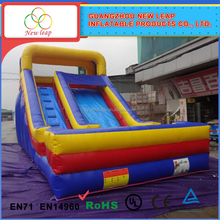 Kids commercial and residential inflatabe dry slide for sale
