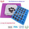 6 Different Shape 30 Holes Novelty Silicone 3d Chocolate Mould With Mold Factory