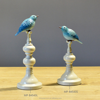 lovely bird shape metal sculpture for home decoration