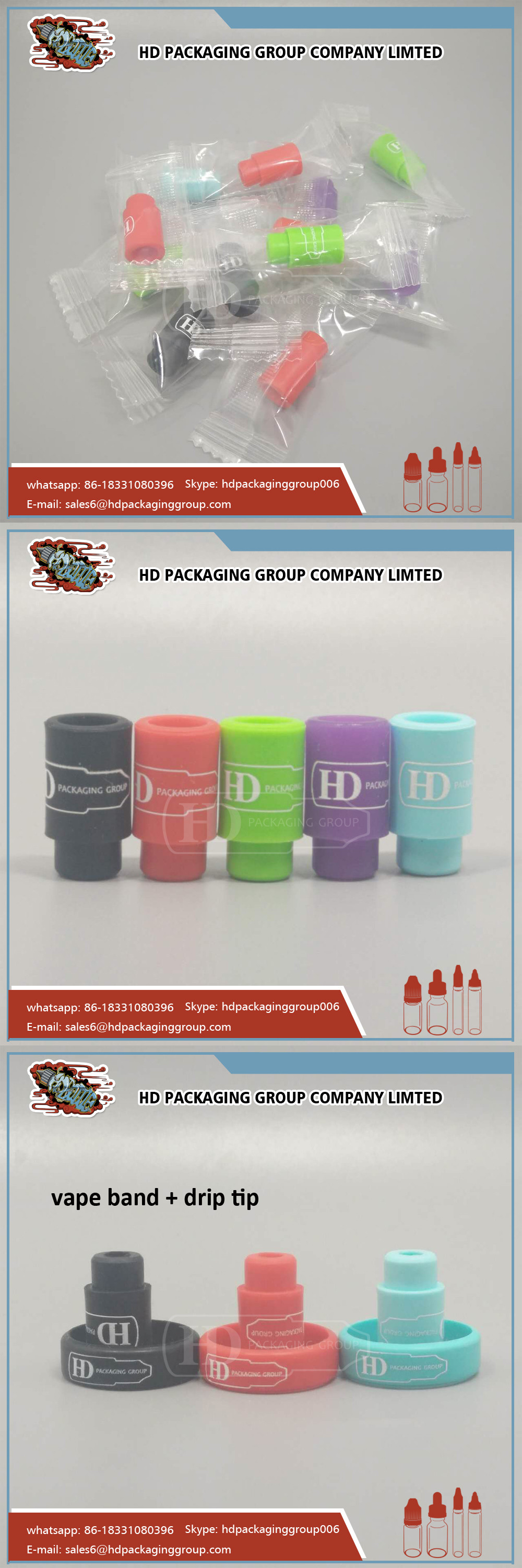 Silicone Drip tip Mouthpiece Cover Silicon Drip Tip Colorful Rubber Test Tips Cap
