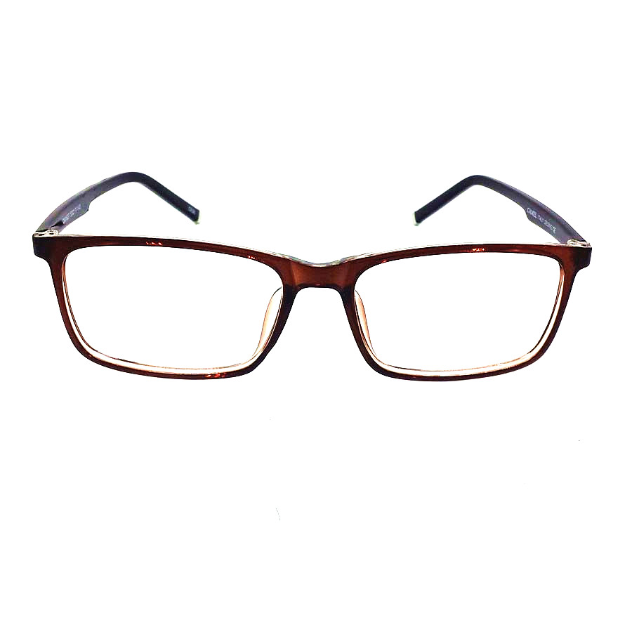 Glasses Frames Large Sizes : Tr90 Eyeglasses Men Women Brown Full Rim Optical Frame ...
