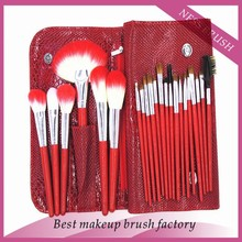 wholesale 22pcs goat hair make up brushes makeup cosmetic beauty tools manufacturers china