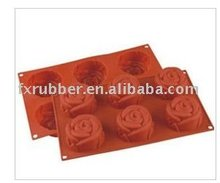 Rose silicone baking mold